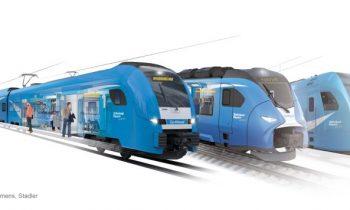 Die Collage zeigt die Zugtypen, die bei Go-Ahead in Bayern eingesetzt werden: Siemens Desiro HC, Siemens Mireo und Stadler Flirt (von links) (Bilder: Go-Ahead, Siemens, Stadler).