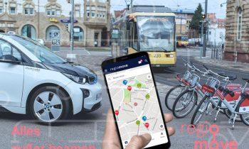 regiomove vernetzt die Mobilitätsdienstleistungen in der gesamten Region Mittlerer Oberrhein (Bild: init GmbH).