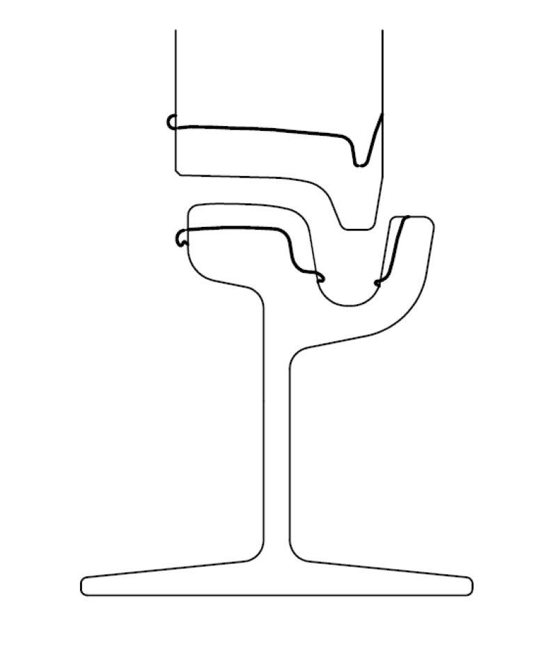 Abb. 2: Schematische Darstellung möglicher Querprofilveränderungen (Quelle: Technische Regeln für die Spurführung von Schienenbahnen nach der Verordnung über den Bau und Betrieb der Straßenbahnen (BOStrab), Ausgabe: Mai 2006, Seite 19 (Bild: Vossloh).
